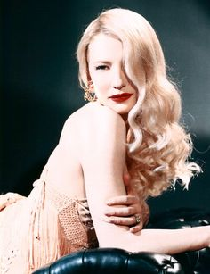 Cate Blanchett in a Veronica Lake pose. I am no one's Elizabeth. There will be…