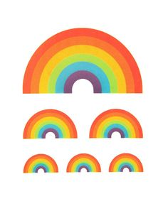 Temporary Tattoos: Rainbow