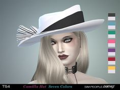 Lana CC Finds - SimPeopleRampage Camilla Hat TS4