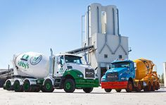 Our feature shots from the 2014 Mack Trucks Australia calendar. In the month of March we are featuring two Metro-Liner 10 x 4 agitators from the New Zealand HW Richardson Group - Allied Concrete Ltd and Ashby's Concrete Ltd. Oil Platform, Mixer Truck, Mix Concrete, Oil Tanker, Concrete Mixers, Mack Trucks, Heavy Equipment, Transportation, Sales