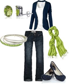 """blue & green"" by kelliebarnes on Polyvore"