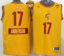 Cavaliers #17 Anderson Varejao Yellow 2014-15 Christmas Day The Finals Patch Stitched NBA Jersey