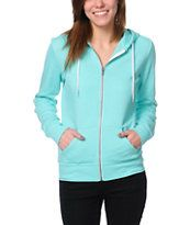 Zine Girls Aruba Blue Zip Up Hoodie
