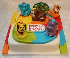 Vtech Toot Toot Animals Birthday Cake!! Animal Birthday Cakes, Birthday Party Themes, Happy 6th Birthday, Toot, Creative Cakes, Desserts, Animals, Tailgate Desserts, Animais