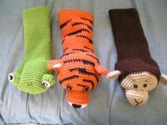 Amigurumi golf club covers.. or puppets! The pattern owner couldn't be linked to directly, but the link to her site can be found in the posts.