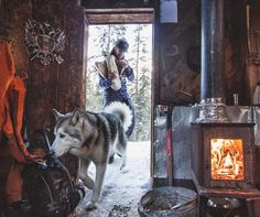 Home is where the fire's lit. : @insta_grimm_ by loki_the_wolfdog