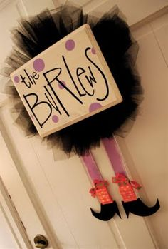 I want to modify to make it look like a tutu and little girl legs with each girls' names.  Chrismas? Birthdays?