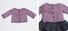 Provence Leafy Knitted Cardigan [FREE Knitting Pattern]