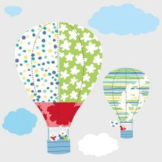 Hot Air Balloons Giant Wall Stickers by RoomMates