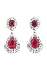 Ruby Chandelier Earrings Bridal Ruby Earrings By Ilona
