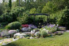 Matisse Garden Pond Area - traditional - landscape - boston - by Amy Martin Landscape Design