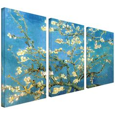 <li>Artist: Vincent van Gogh</li><li>Title: 3-Piece Almond Blossom</li><li>Product type: Gallery-wrapped canvas</li>