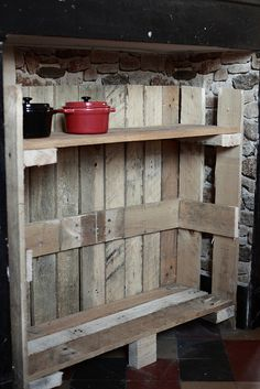 pallet turned outdoor storage • furniture