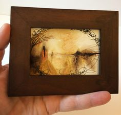 Keeping Vigil...Tiny Novella, Original Watercolor/Asemic Writing/Landscape. by DLRigter on Etsy