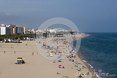 Photo about CALELLA, SPAIN - JULY The beach of Calella on July A popular holiday destination of tourists from all European countries. Image of water, warm, white - 32503662 All European Countries, Popular Holiday Destinations, Spain, Warm, Stock Photos, Country, Beach, Outdoor, Image