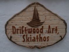 Driftwood Art, Skiathos sign by The Craft-e-Art Company