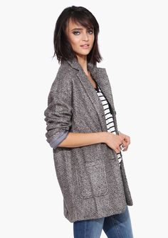 Brian Over Sized Coat in Charcoal | Necessary Clothing
