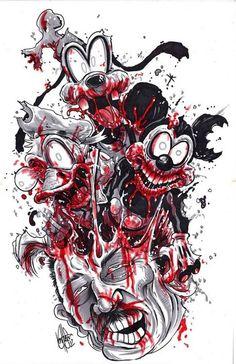 horror more tattoo ideas zombie cartoons disney zombie disney tattoos . Zombie Kunst, Art Zombie, Zombie Cartoon, Zombie Walk, Zombie Girl, Horror Cartoon, Horror Comics, Cartoon Art, Zombie Disney