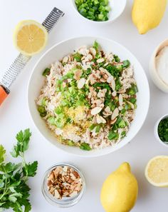 Lemon Almond Roast Chicken Salad | 27 Low-Carb Dinners That Are Great For Spring