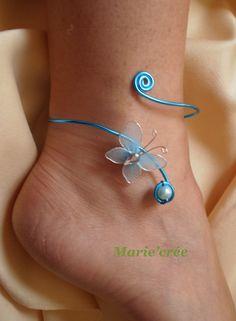 Handmade Wire Jewelry, Wire Wrapped Jewelry, Beaded Jewelry, Jewellery, Ankle Jewelry, Ankle Bracelets, Wire Crafts, Jewelry Crafts, I Love Jewelry