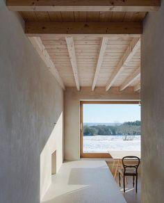 Warm Minimalism Atrium House in Gotland designed by Tham Videgard Arkitekter via Yellowtrace