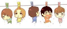 Shinee ~~ cute chibi