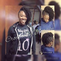 Crochet updo! #CrochetBraids Crochet Hair Styles, Crochet Braids, Natural Hairstyles, Braided Hairstyles, Mohawk Braid, Hair Affair, Naturally Beautiful, Love Hair, Protective Styles