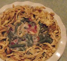 Mama's Green Bean Casserole  Gluten Free, includes Mama's Semi Condensed Soup Mix and GF French Fried Onions.  Delicious!
