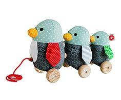 Muñeco de peluche hecho a mano en algodón orgánico Pingüino Gufo