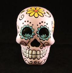 "Sugar Skull Wall Sculpture Day of the Dead Muerte De Dama Wall Mount 16/"""