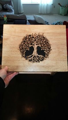 Tree of life pyrography. This for a tattoo.