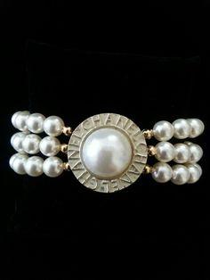 Chanel Button Bracelet Etsy by ArmCandy    DesignsbyZ