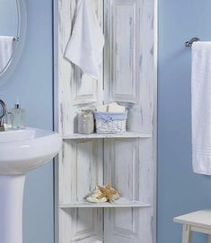 """Build Inexpensive Shelves DIY Project in Your Bathroom Homesteading  - The Homestead Survival .Com     """"Please Share This Pin"""""""
