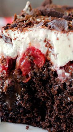Black Forest Poke Cake.
