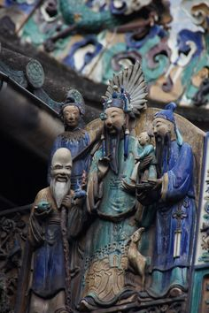 """""""Elaborate Carved Sculptures"""" in Thien Hau Pagoda, Ho Chi Minh City, Vietnam (photo by Peggy Mooney Oct. 2010)"""