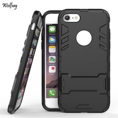 For iPhone 7 Plus Case Shockproof Robot Armor Case Slim Hybrid Silicone Rubber Hard Back Phone Cover For iPhone 7 Plus Coque