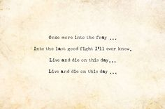 live and die today quote