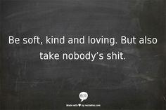 Wees zacht, aardig en liefdevol
