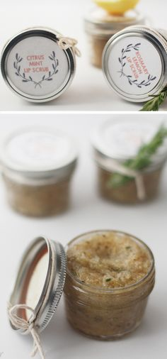 Home Made Citrus Lip Scrub | Click Pic for 22 DIY Valentine Gifts in a Jar for Men | DIY Valentine Gifts for Friends
