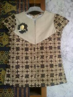 simple batik blouse
