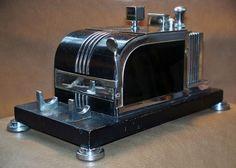 Vintage 1930's Ronson Art Deco Touch Tip Lighter & Cigarette Dispenser
