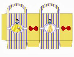 """Kit de Aniversário """" Princesas""""- Cone para guloseimas, Rótulos, convites, etc.... - Convites Digitais Simples"""