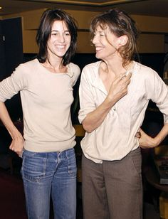 Mother #JaneBirkin and Daughter #CharlotteGainsbourg