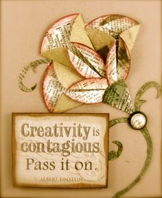 Folded Flower Card by Marie Browning « Tombow USA – Blog