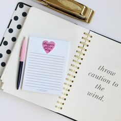 Bloggers Gonna Blog White Lined Notepad Pink Note Pad Girlboss Boss... ($5) ❤ liked on Polyvore featuring home, home decor, stationery, office, home & living, office & school supplies and silver