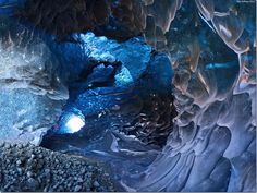 Unique Ice Cave in Iceland - Skaftafell. Beautiful places on earth Places Around The World, Oh The Places You'll Go, Around The Worlds, Ice Cave Iceland, Beautiful World, Beautiful Places, Amazing Places, Amazing Photos, Cave Tours