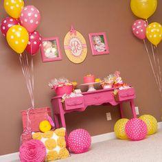 Pink lemonade birthday party idea