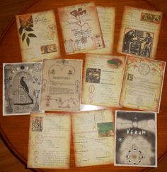 Practical Magic Replica Spell Pages Loose by PaganScrapbookSupply, $16.99