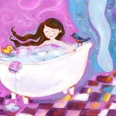 Baths & Bubbles -  Illustration by Elisabeth Zartl