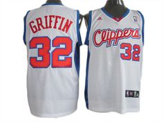 NBA Los Angeles Clippers 32# Griffin white mesh JerseyPrice :$20
